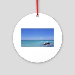 Ocean Jetty Round Ornament