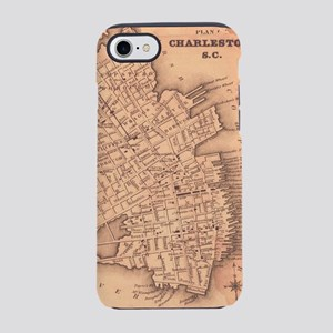 Vintage Map of Charleston Sout iPhone 7 Tough Case