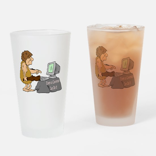Caveman Pint Glass