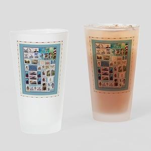 Philatelist Pint Glass