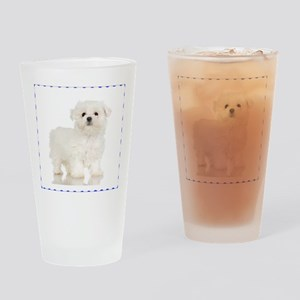 Maltese Puppy Pint Glass
