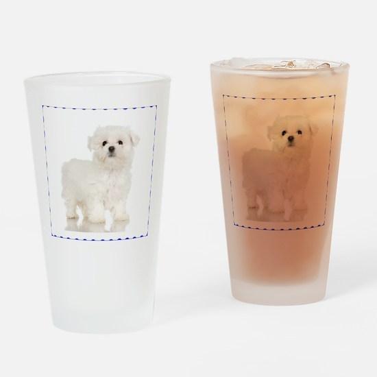 Maltese Puppy Pint Glass