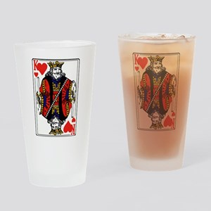 King of Hearts Pint Glass