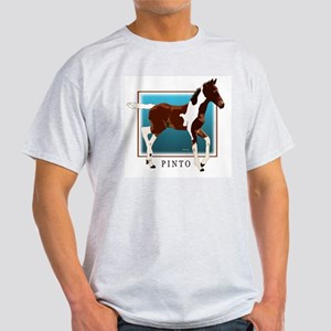 Saddlebred Pinto Colt Painting Ash Grey T-Shirt