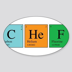Chemist Chef Sticker (Oval)