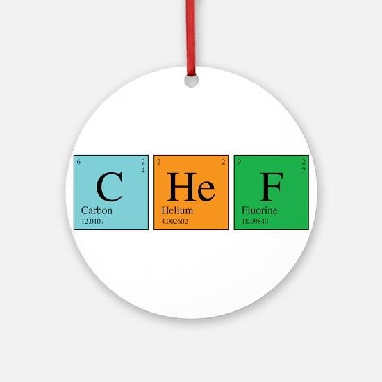 Chemist Chef Ornament (Round)