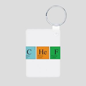 Chemist Chef Aluminum Photo Keychain