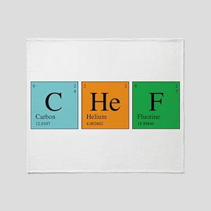 Chemist Chef Throw Blanket