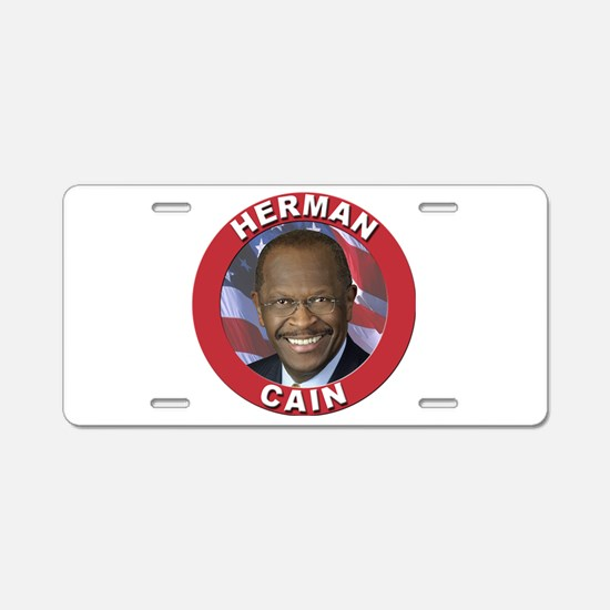 Herman Cain Aluminum License Plate