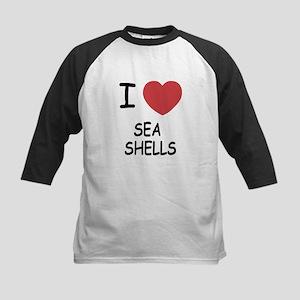 I heart sea shells Kids Baseball Jersey