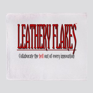 Leathery Flakes Collaboration Throw Blanket