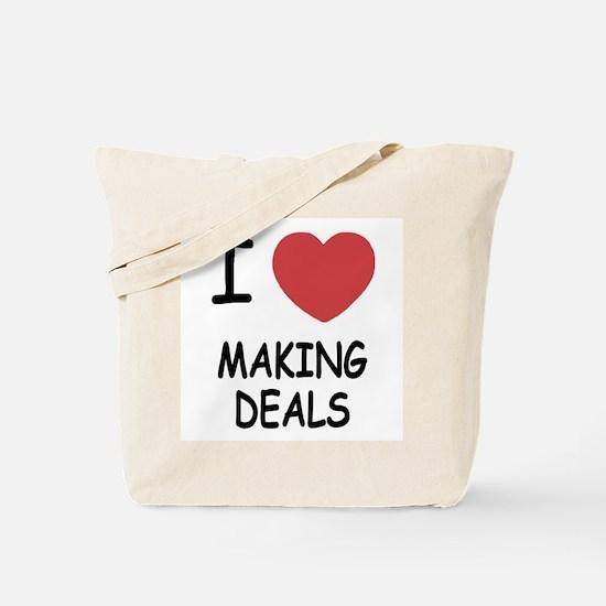 I heart making deals Tote Bag