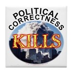 PC Kills Tile Coaster