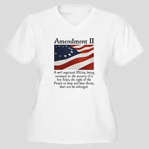 2nd Amendment Women's Plus Size V-Neck T-Shirt