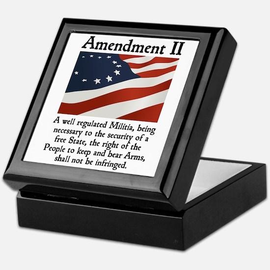2nd Amendment Keepsake Box