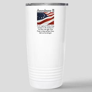 2nd Amendment Stainless Steel Travel Mug