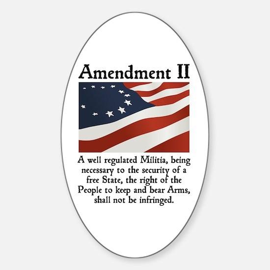 2nd Amendment Sticker (Oval)