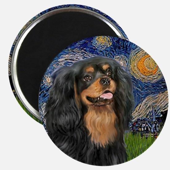 Starry / Cavalier (Blk-Tan) Magnet
