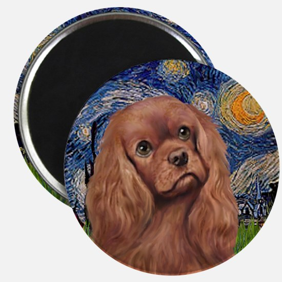 Starry / Ruby Cavalier Magnet