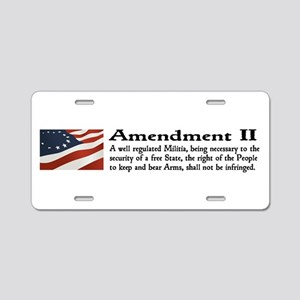 2nd Amendment Aluminum License Plate