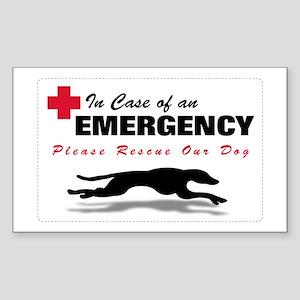 Save My Greyhound Rectangle Sticker