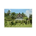 Fiji straw roof house Rectangle Magnet