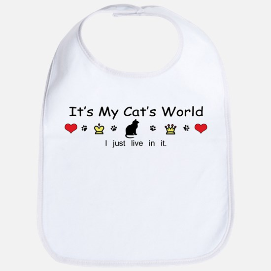 It's My Cat's World Bib