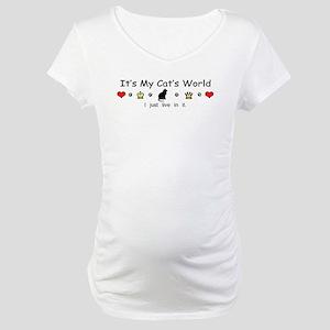 It's My Cat's World Maternity T-Shirt