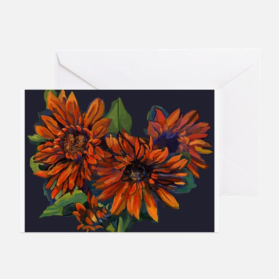 Flowers For Vincent (black) Greeting Cards (Pk of