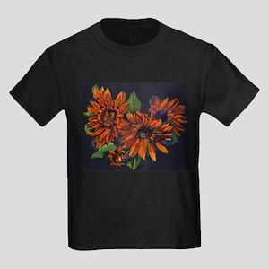 Flowers For Vincent (black) Kids Dark T-Shirt