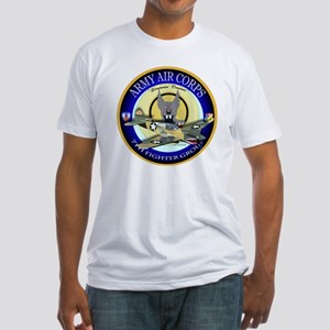 7th Fighter Group - P40 Warhawk Fitted T-Shirt