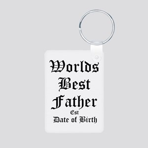 Worlds Best Father Aluminum Photo Keychain