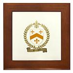 BOURGOIN Family Crest Framed Tile