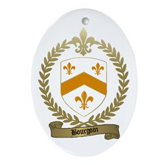 BOURGOIN Family Crest Oval Ornament