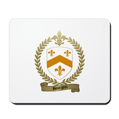 BOURGOIN Family Crest Mousepad