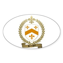 BOURGOIN Family Crest Oval Decal