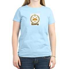 BOURGOIN Family Crest Women's Pink T-Shirt