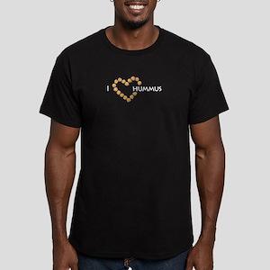 I heart hummus Men's Fitted T-Shirt (dark)