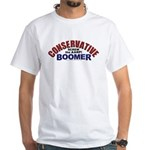 Conservative Boomer White T-Shirt