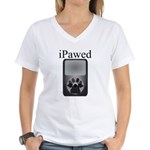 iPawed Women's V-Neck T-Shirt