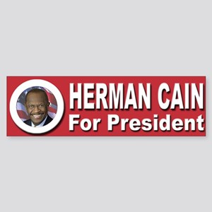 Herman Cain for President Sticker (Bumper)