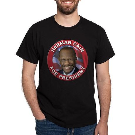 Herman Cain for President Dark T-Shirt