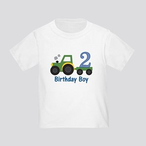 2nd Birthday Tractor Toddler T-Shirt