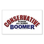 Conservative Boomer Rectangle Sticker