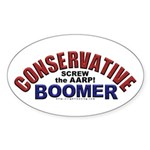 Conservative Boomer Oval Sticker