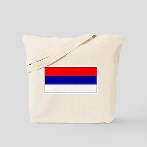 Serbia Serbian Blank Flag Tote Bag