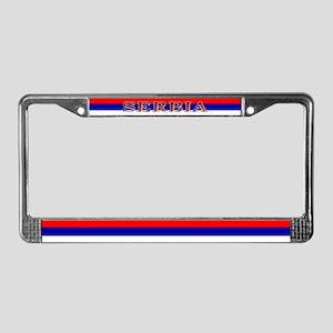 Serbia Serbian Blank Flag License Plate Frame