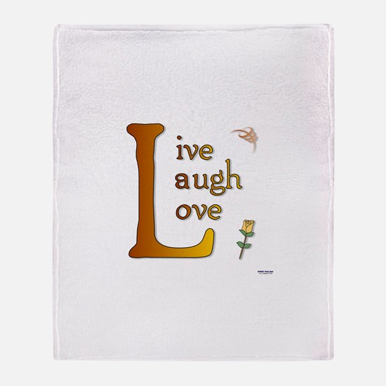 Big L - Live Laugh Love Throw Blanket