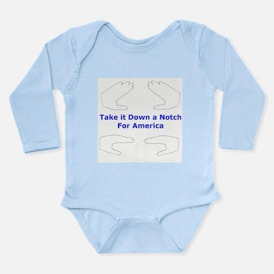 Unique Take down notch america Long Sleeve Infant Bodysuit