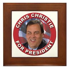 Chris Christie for President Framed Tile